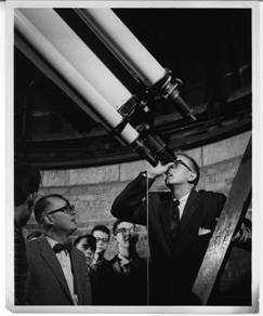 Hemenway and Students using the Pruyn Telescope/1957
