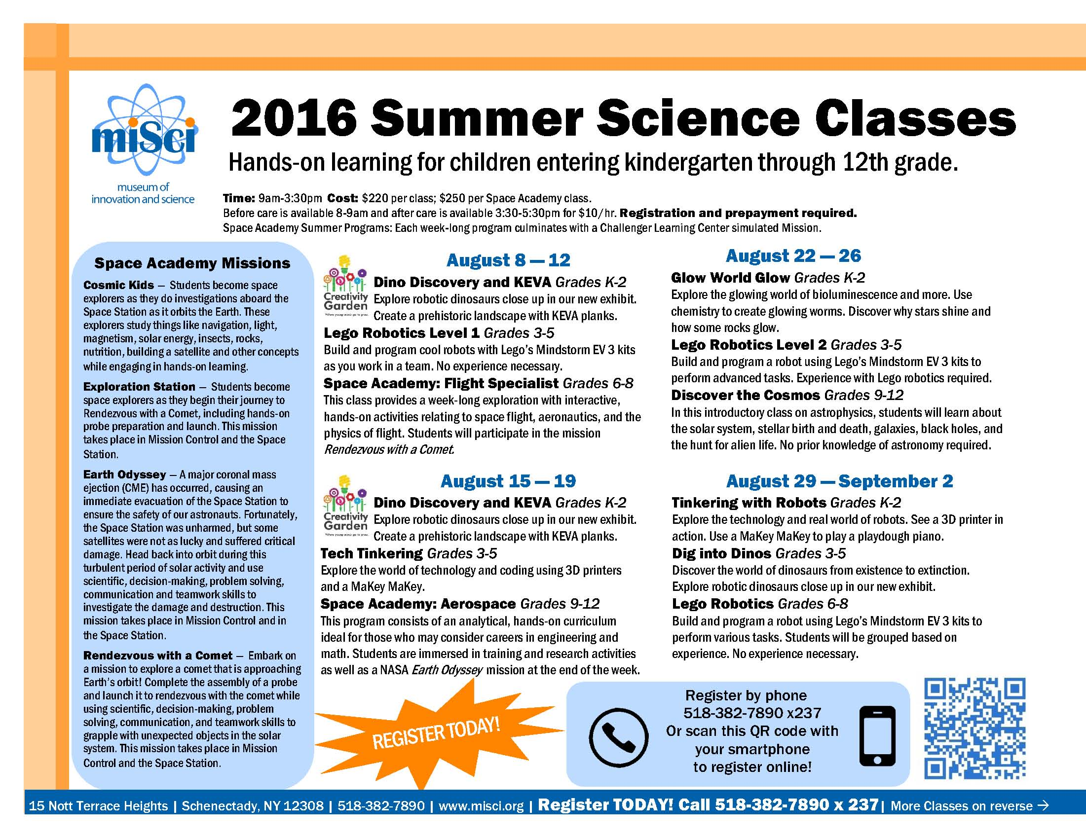 5 week summer classes