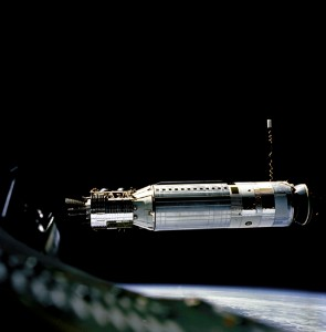 Agena Target Vehicle (ATV) from Gemini 8, aourtesy of NASA