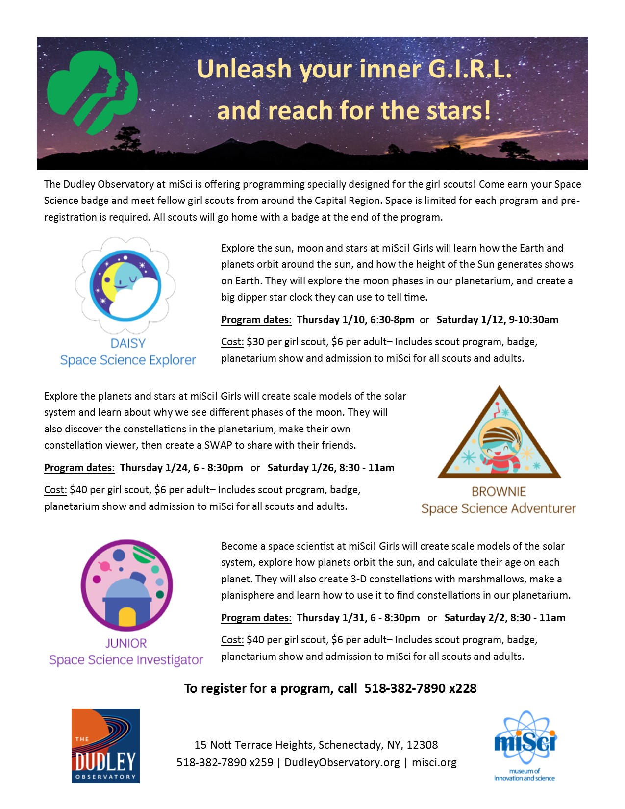 Girl Scouts - Dudley Observatory